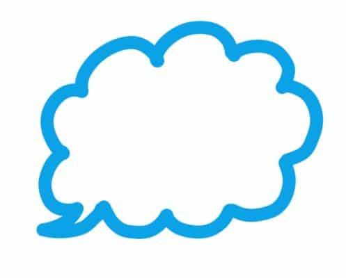 雲形のPOPパターンのイラスト
