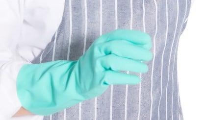 ゴム手袋の写真