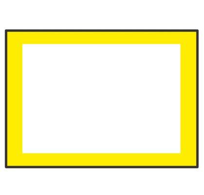 黄色のPOPラインのイラスト